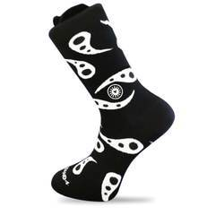 India Paisley Black Sock-Stand4 Socks-MAMOQ