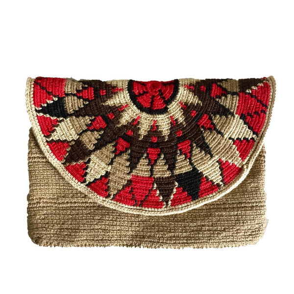 Iscuandé Handcrafted Cotton Clutch Bag-Untold Treasures-MAMOQ