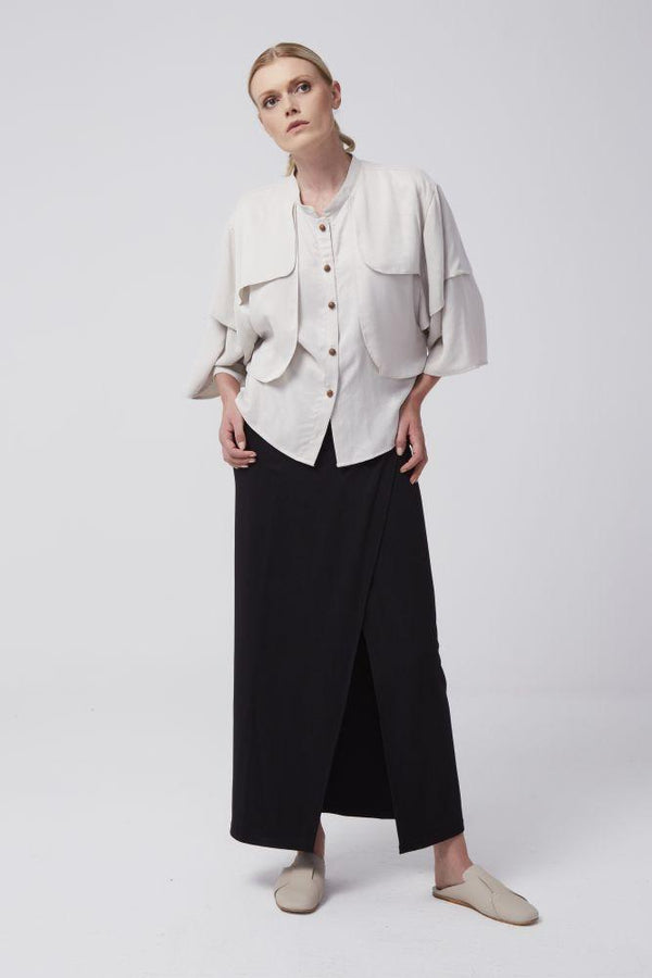 Jasmine Pleated Shirt-Rakha-MAMOQ