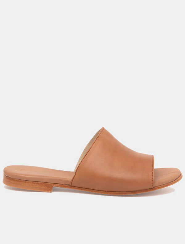 Joselin Cognac Leather Slipper-Sandal-CANO-MAMOQ