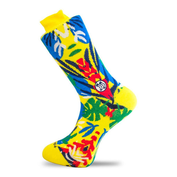 Jungle Summer Combed Cotton Socks-Socks-Stand4 Socks-MAMOQ