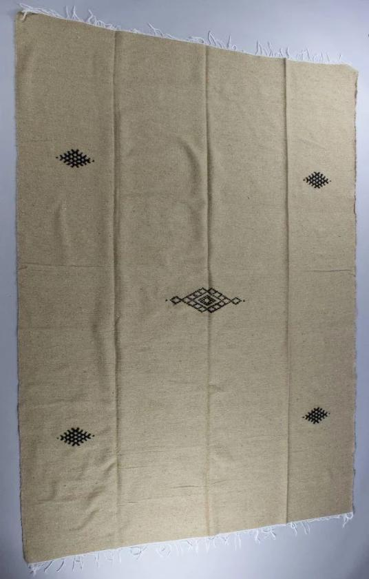 Kamal Honey Brown Cotton Moroccan Throw-Harfi-MAMOQ