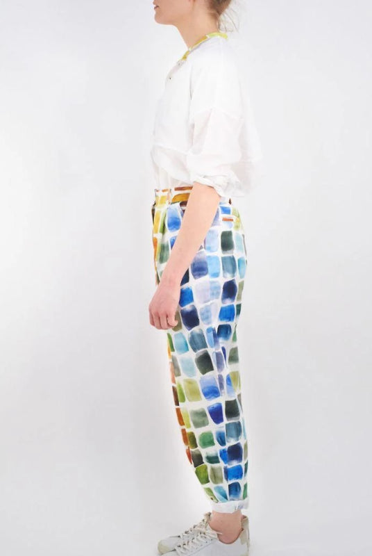 Klein Palette Pleated Trousers-Cor-MAMOQ