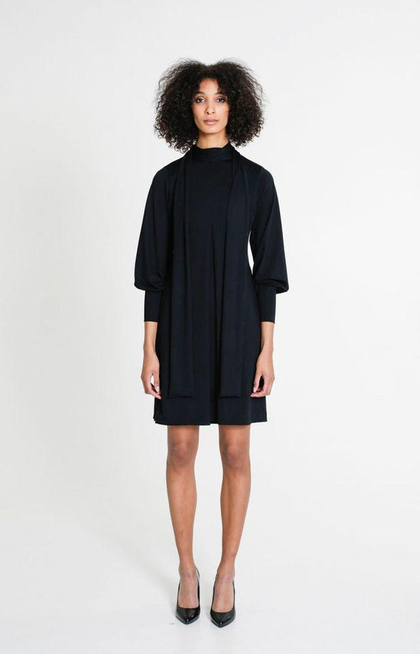 Knot Dress Black-TAUKO-MAMOQ