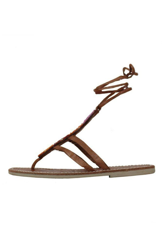 Komosa Coral Leather Ankle Strap Sandals-Aspiga-MAMOQ
