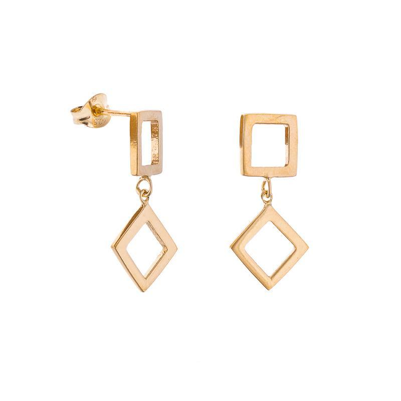 Koti Gold Plated Drop Earrings-ANUKA Jewellery-MAMOQ
