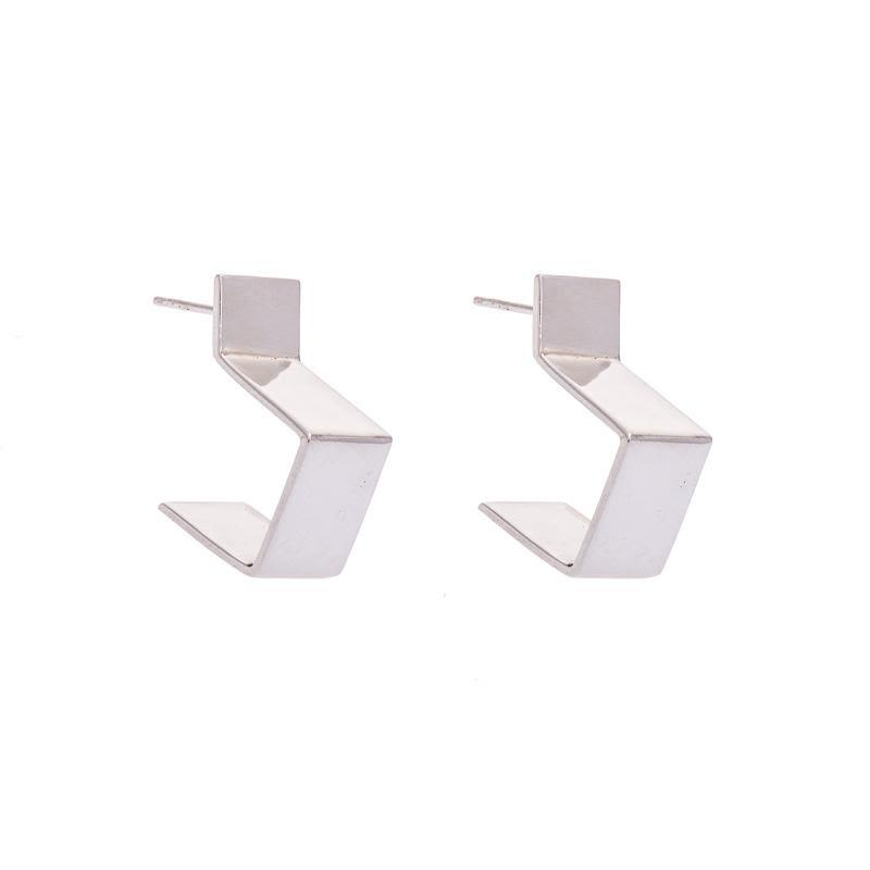 Koti Silver Square Hoop Earrings-ANUKA Jewellery-MAMOQ