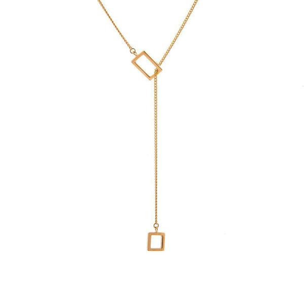 Koti Slip Through Gold Plated Necklace-ANUKA Jewellery-MAMOQ
