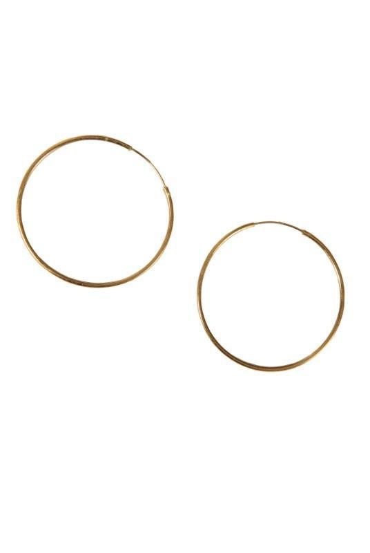 Large 18K Gold Plated Hoop Earrings-Birdsong-MAMOQ