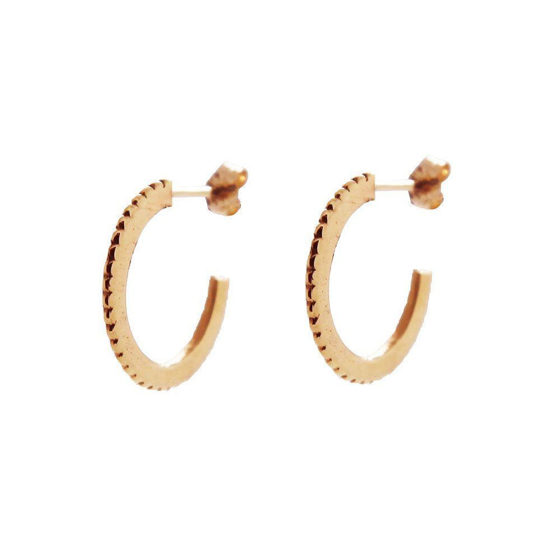Large Rose Gold Solar Hoops-KIND Jewellery-MAMOQ