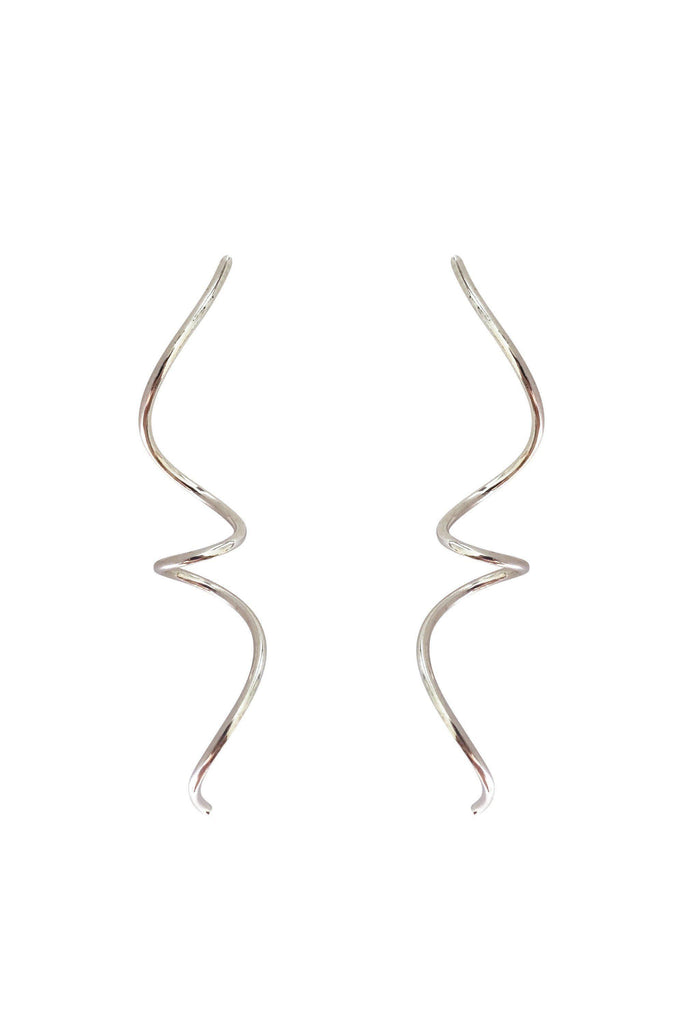 Large Spiral Silver Earrings-Earrings-laoehlé-MAMOQ