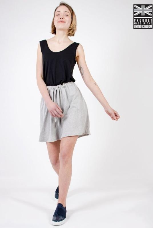 Light Grey Organic Cotton Shorts-Zola Amour-MAMOQ
