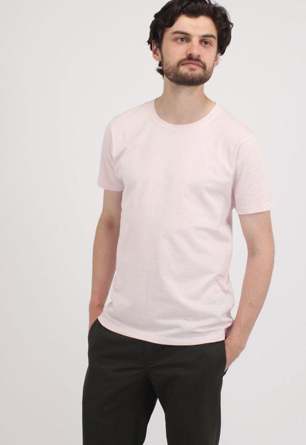 Light Pink Short Sleeve Organic Cotton T-Shirt-Goose Studios-MAMOQ