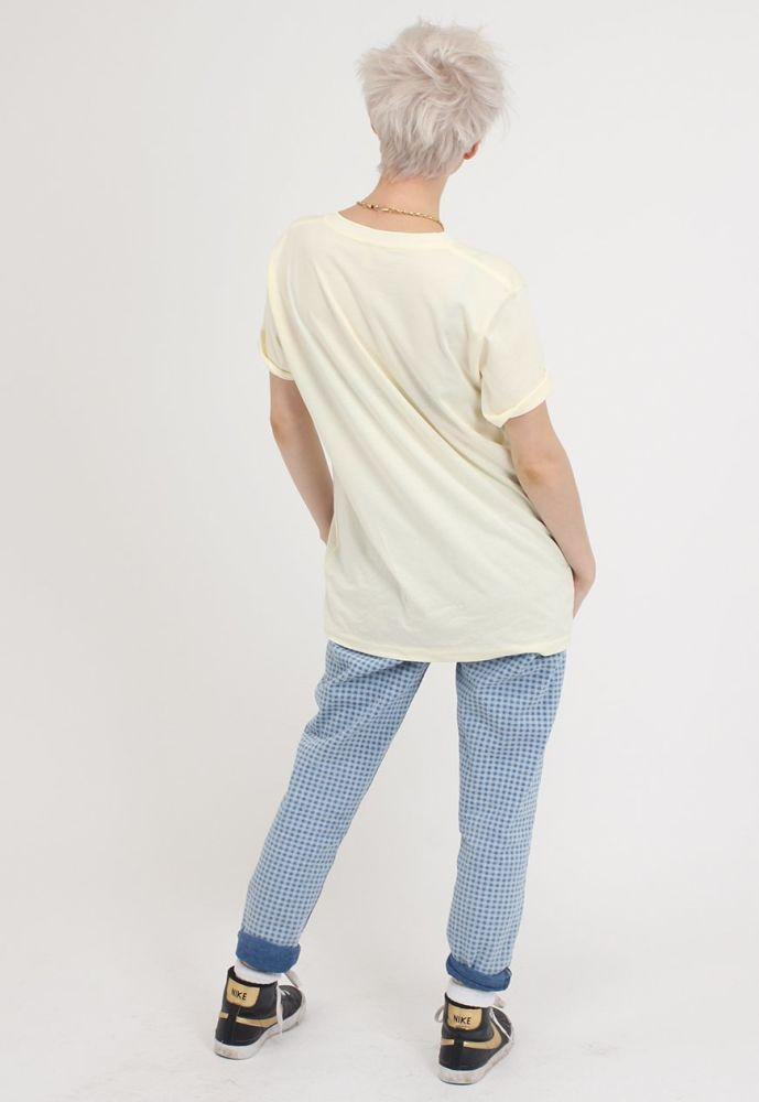 Light Yellow Short Sleeve Organic Cotton T-Shirt-Goose Studios-MAMOQ