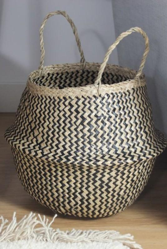 Linh Patterned Seagress Collapsible Belly Basket-Harfi-MAMOQ