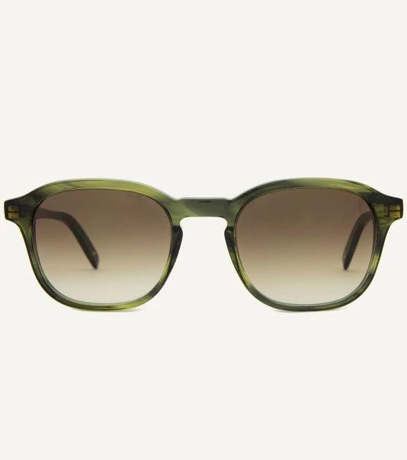 Lisbon Green Leaves Unisex Sunglasses-Dick Moby-MAMOQ
