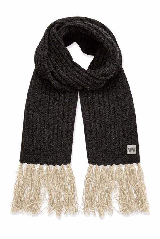 Lizzie Coal Grey Recycled Wool Scarf-Komodo-MAMOQ