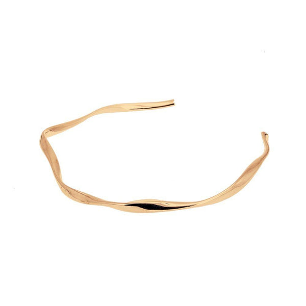 Loka Contour Gold Plated Collar Necklace-ANUKA Jewellery-MAMOQ