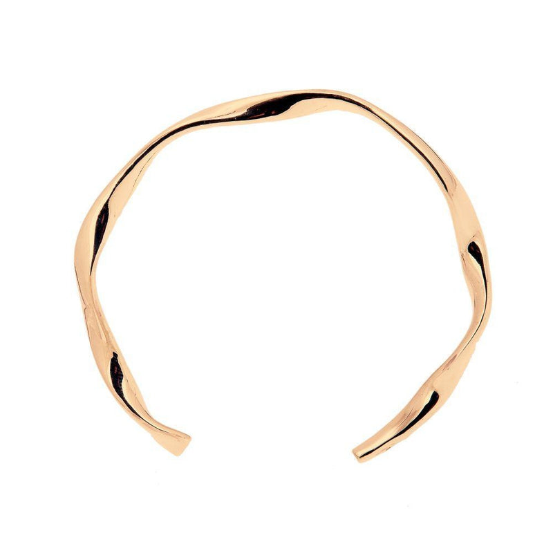 Loka Gold Cuff Bangle-ANUKA Jewellery-MAMOQ