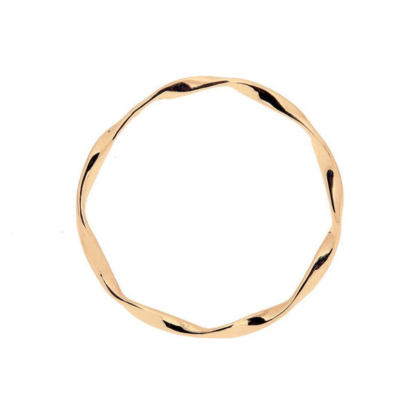 Loka Gold Plated Full Bangle-ANUKA Jewellery-MAMOQ