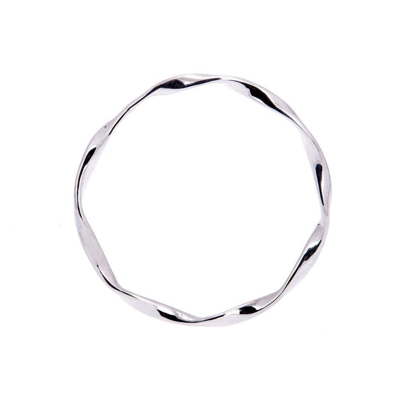 Loka Sterling Silver Full Bangle-ANUKA Jewellery-MAMOQ