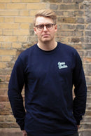 Long Sleeve Organic Cotton T Shirt - Navy-Goose Studios-MAMOQ