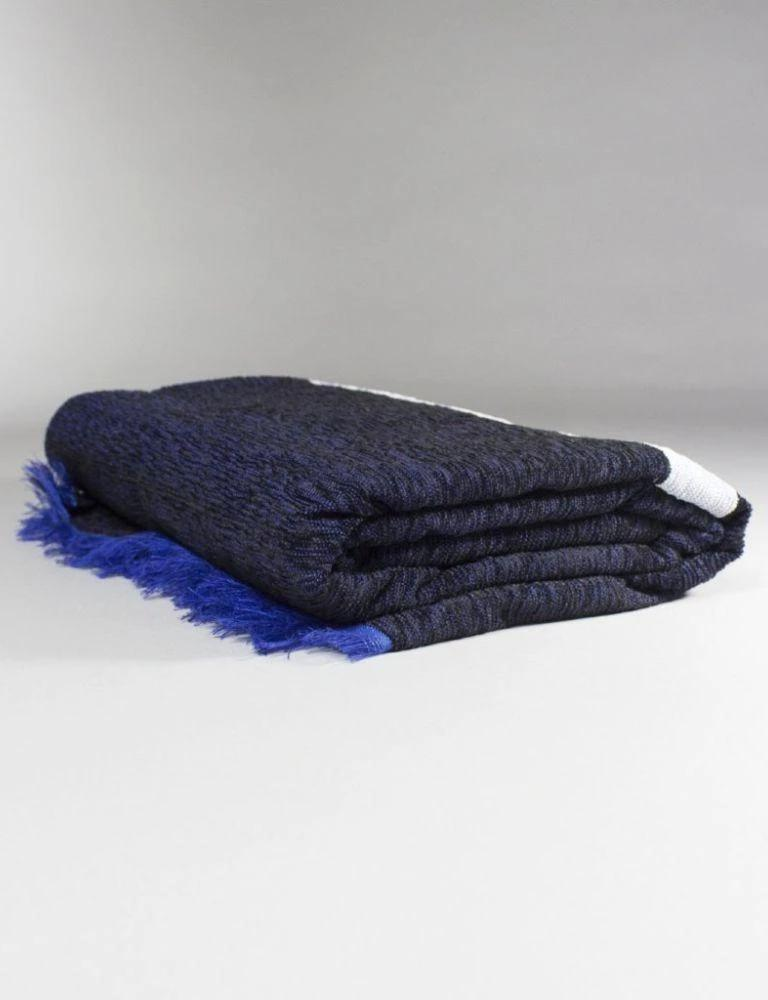 Luna Oxford Blue Moroccan Throw-Harfi-MAMOQ