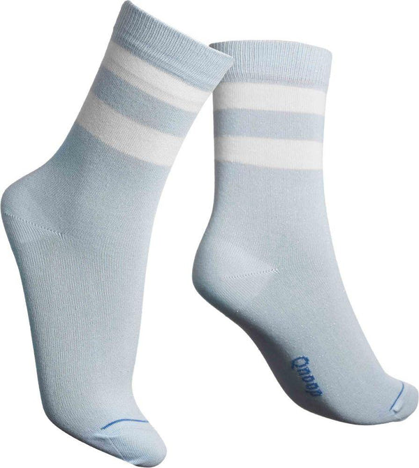 Lurex Tube Soft Blue Socks-Qnoop-MAMOQ