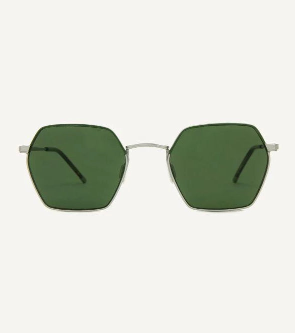 Madrid Forest Satin Silver Unisex Sunglasses-Dick Moby-MAMOQ
