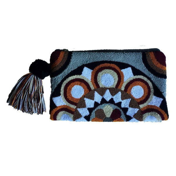 Magdalena Handcrafted Cotton Wayuu Clutch Bag-Untold Treasures-MAMOQ