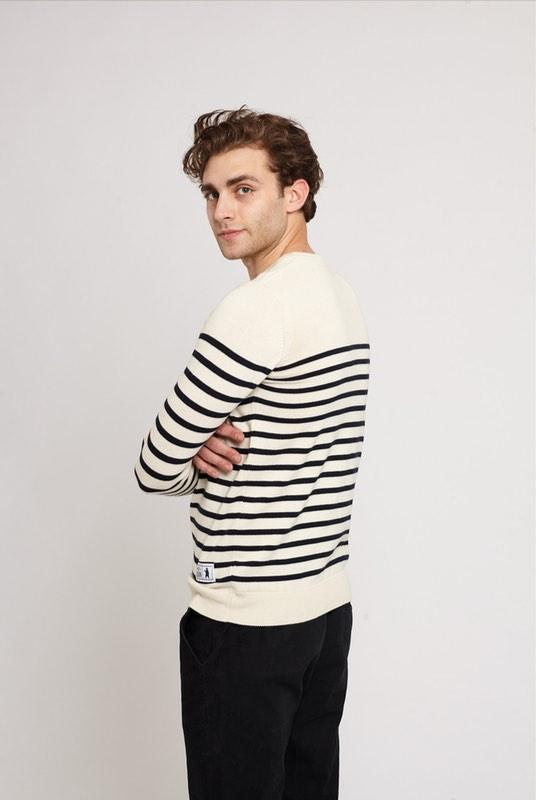 Maine Cream Cotton Breton Jumper-Absolutely Bear-MAMOQ