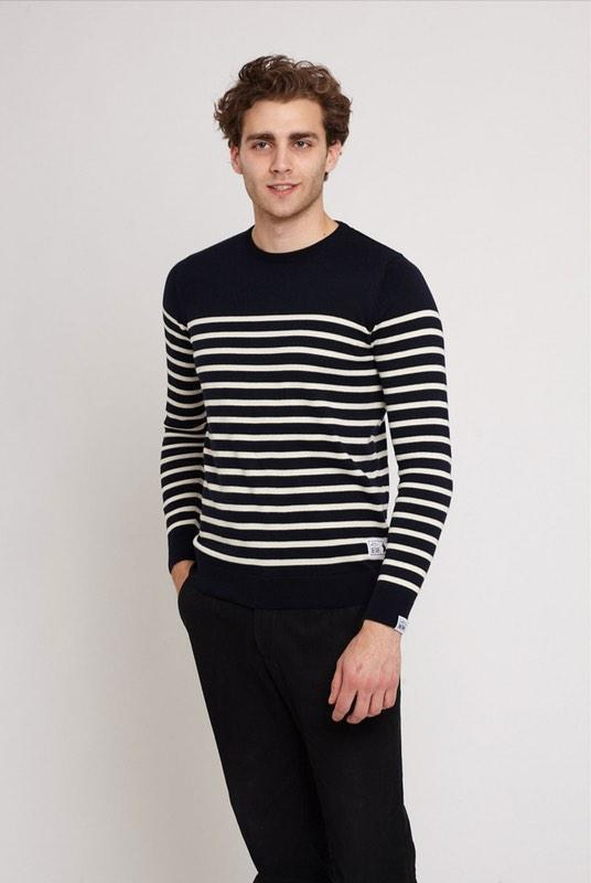 Maine Navy Cotton Breton Jumper-Absolutely Bear-MAMOQ