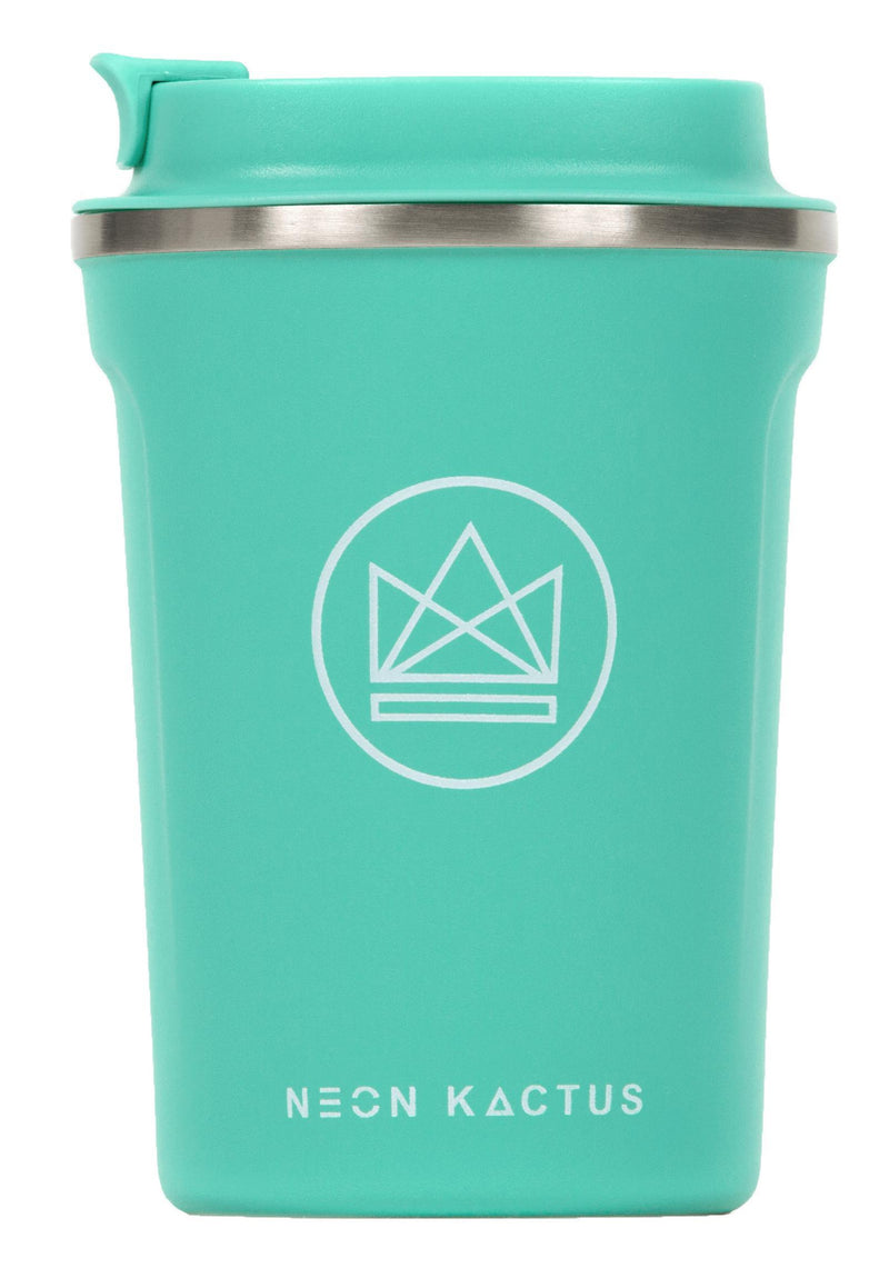 Make Waves Green Insulated Coffee Cups-Insulated Coffee Cups-Neon Kactus-MAMOQ