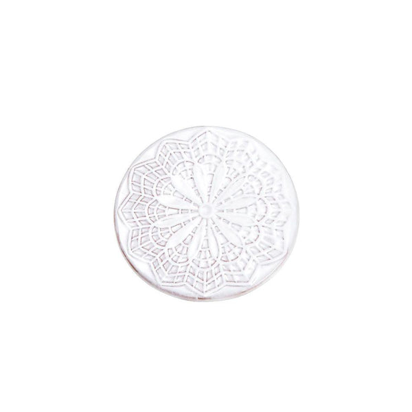 Mandala Glazed Ceramic White Cup Coasters Set-Tale Of The Future-MAMOQ