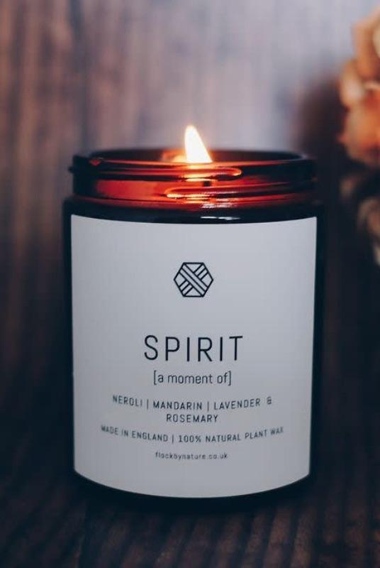Mandarin Scented Candle-Flock by Nature-MAMOQ
