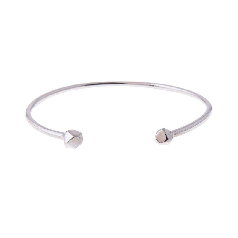 Mani Cuff Bangle Silver-ANUKA Jewellery-MAMOQ