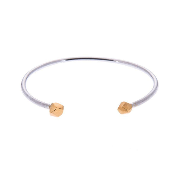 Mani Gold and Fairmined Silver Cuff Bangle-ANUKA Jewellery-MAMOQ