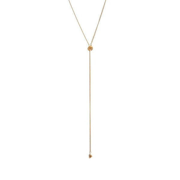 Mani Gold Plated Adjustable Necklace-ANUKA Jewellery-MAMOQ
