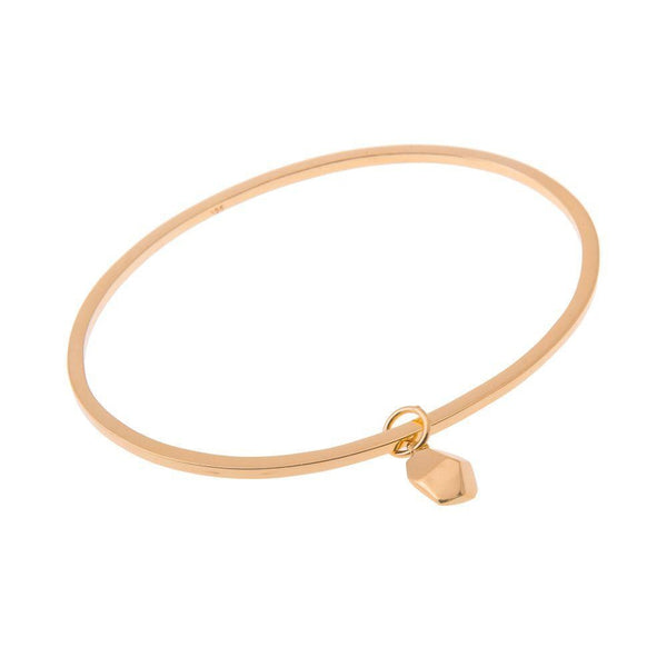 Mani Gold Plated Bangle and Charm-ANUKA Jewellery-MAMOQ