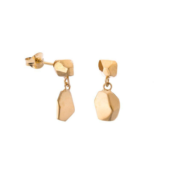 Mani Gold Plated Drop Earrings-ANUKA Jewellery-MAMOQ