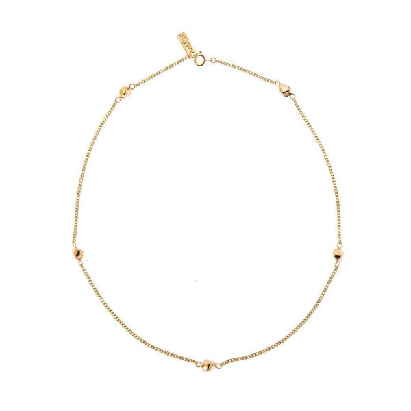Mani Ultimate Charm Gold Plated Necklace-ANUKA Jewellery-MAMOQ