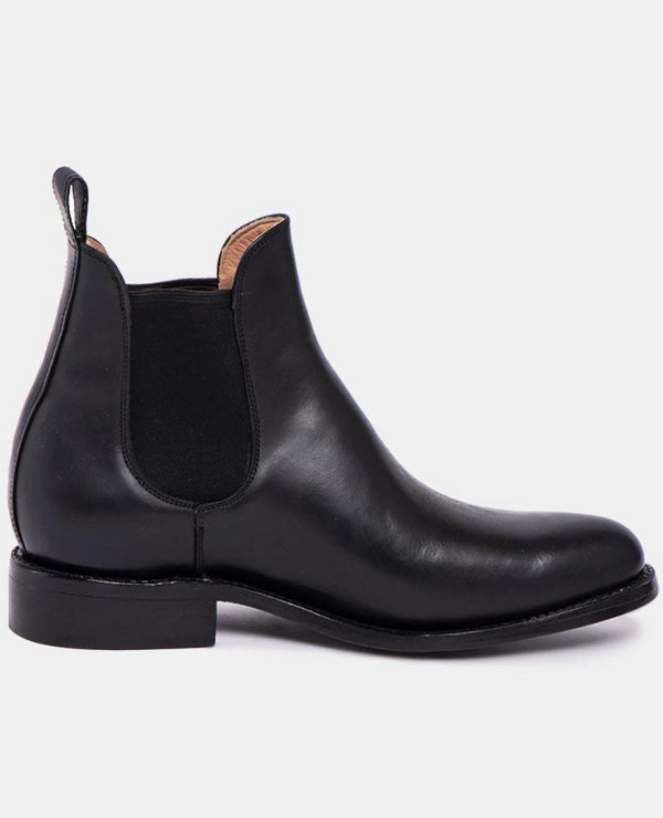 Manuel Black Men's Leather Chelsea Boots-Boots-CANO-MAMOQ