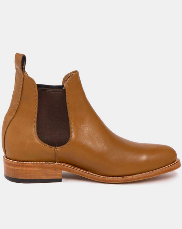 Manuel Cognac Men's Leather Chelsea Boots-Boots-CANO-MAMOQ