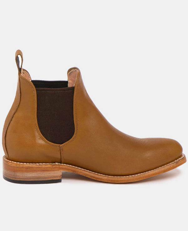 Maria Cognac Women's Leather Chelsea Boots-Boots-CANO-MAMOQ