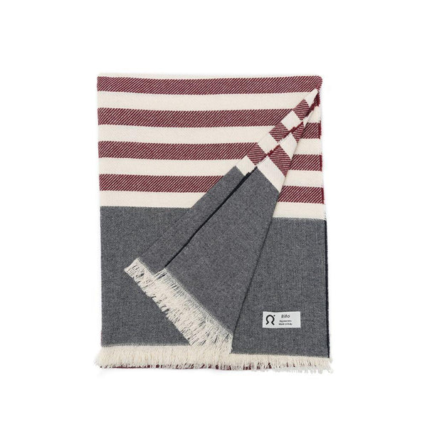 Marinetti Portofino Red Striped Cotton Towel-Rifò-MAMOQ