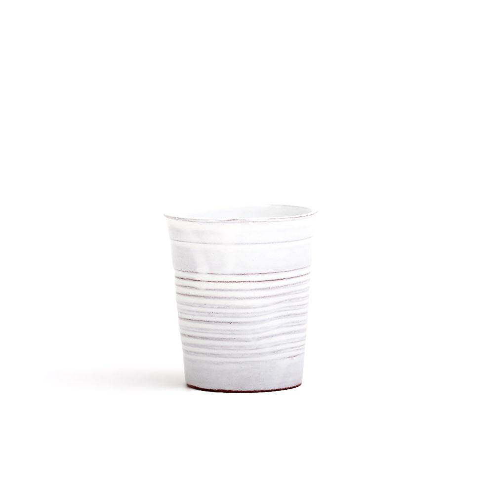 Medium White Ceramic Cup-Tale Of The Future-MAMOQ