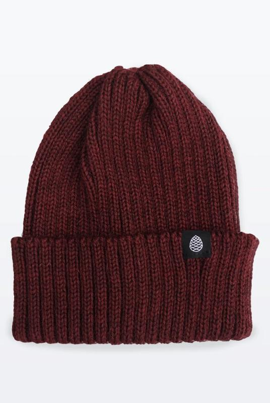 Merlot Color British Wool Everyday Trail Beanie-The Level Collective-MAMOQ