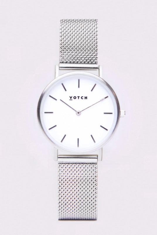 Mesh Petite Silver Stainless Steel Watch-Watch-Votch-MAMOQ