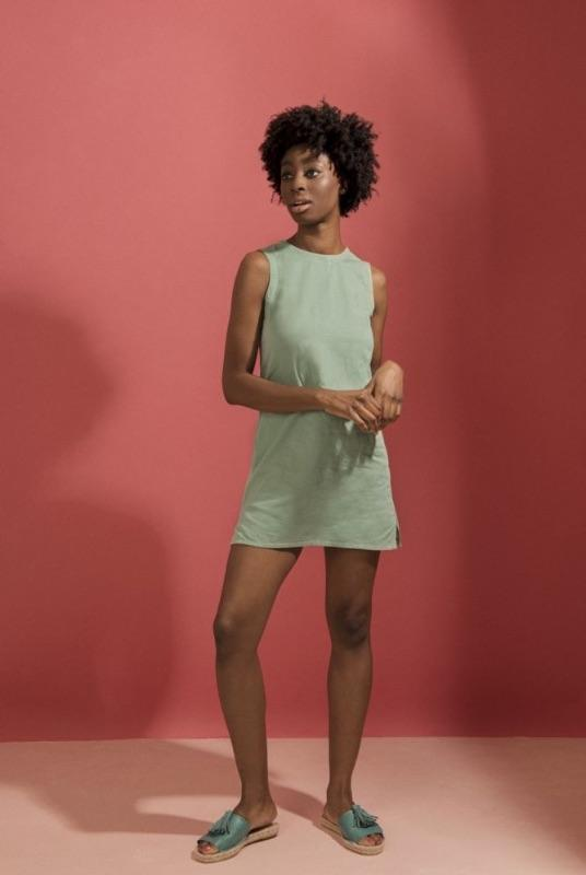 Mia Mint Organic Cotton Mini Dress-Mayamiko-MAMOQ