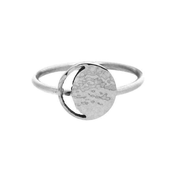 Mini Crescent Lune Silver Signet Ring-KIND Jewellery-MAMOQ